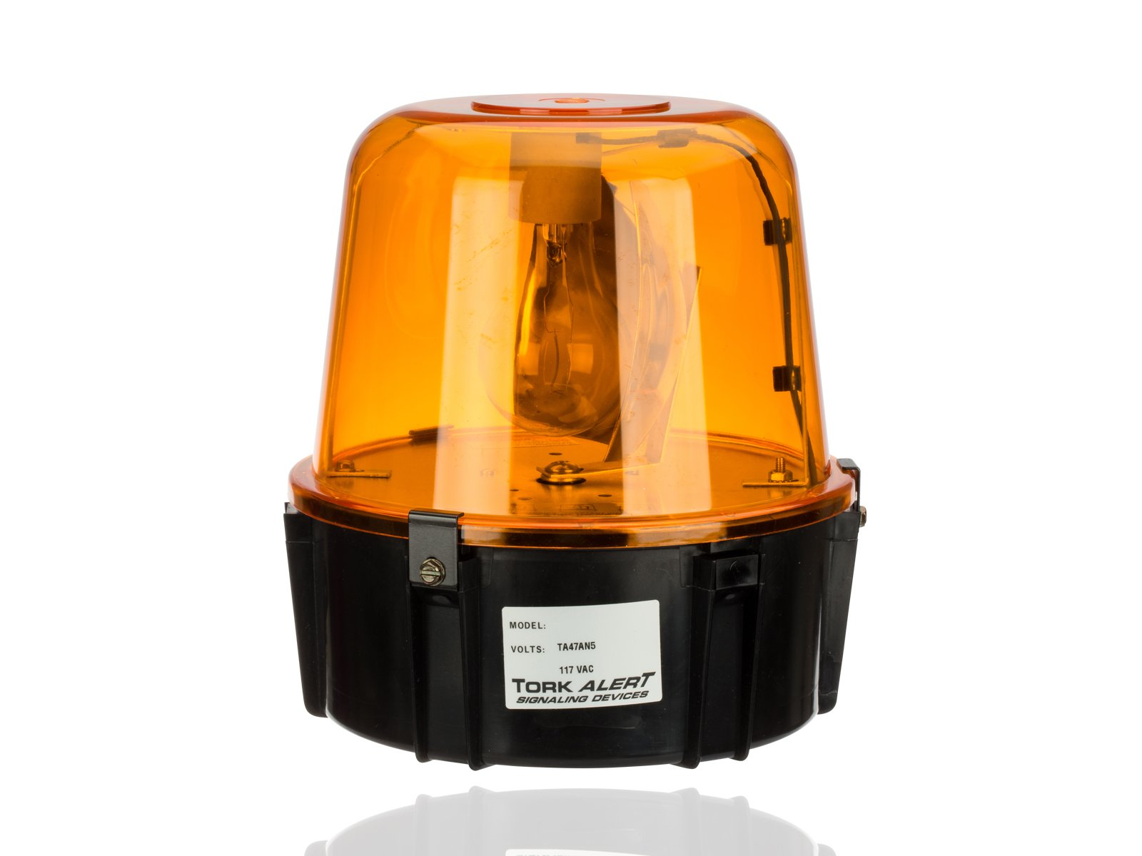 All Purpose 360 Degrees Rotating Beacon, Warning Light, 117VAC, For Security Intrusion, Amber