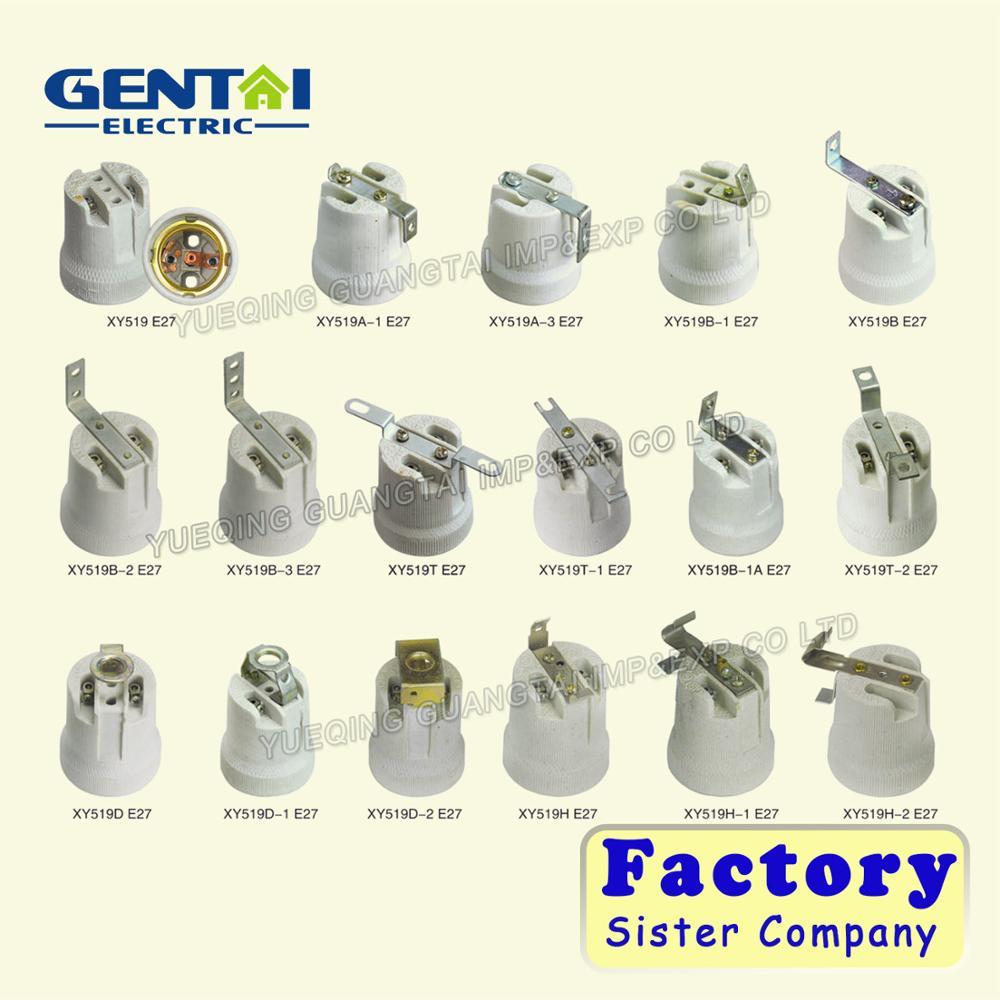 E27 Lamp Holder / E27 Porcelain Lamp Socket / E27 Ceramic Lamp ...
