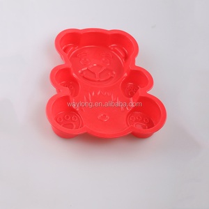 hot sale bear shape silicone baking mold baking biscuit cake making molds lace silicone crown