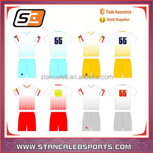 Stan Caleb Wholesale Design Your Own Sublimation Custom Soccer Jersey uniforms Factory Produce