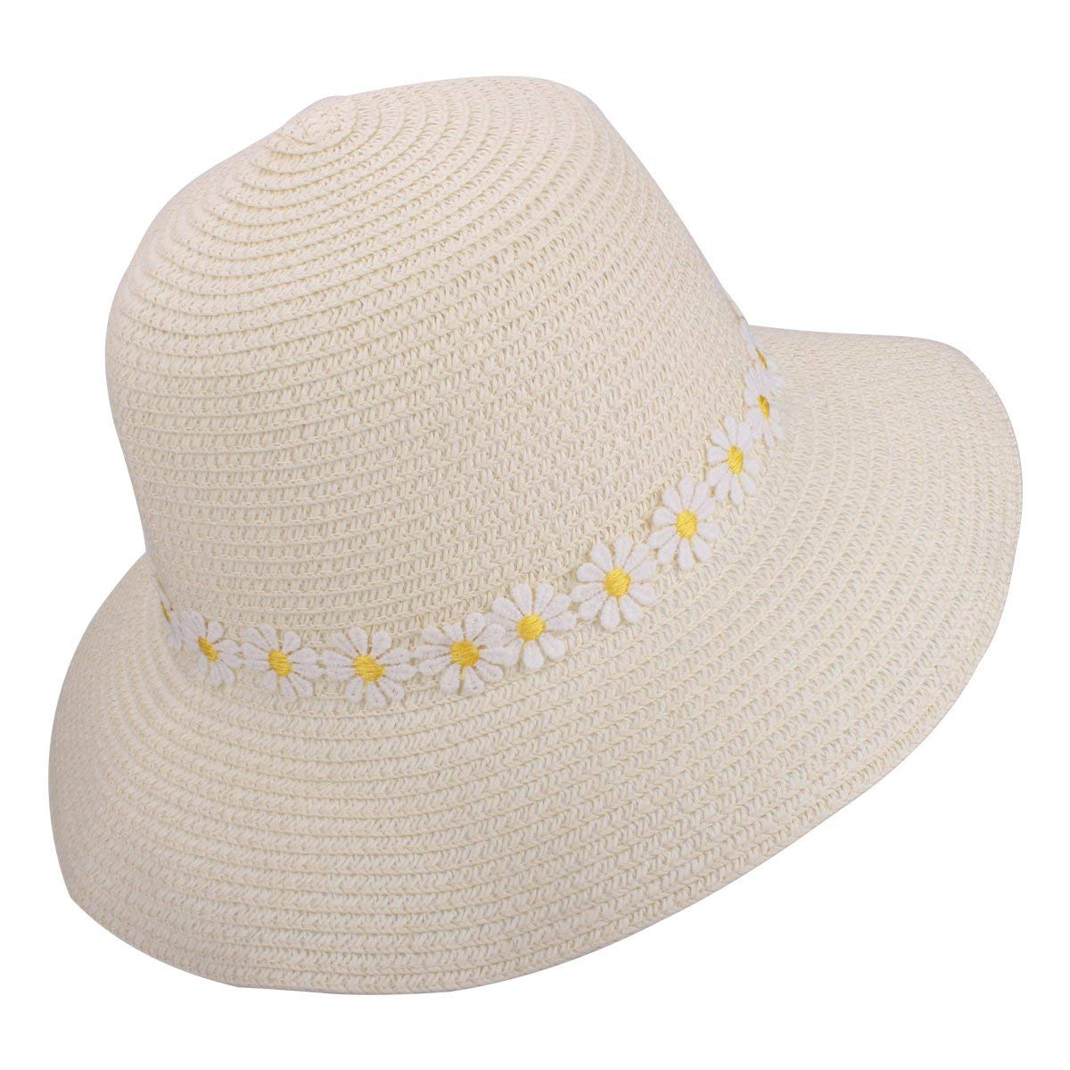 8d776af186c Get Quotations · Andeker Packable UPF Straw Sunhat Women Summer Beach Wide  Brim UV Protection Floppy Fedora Foldable Travel