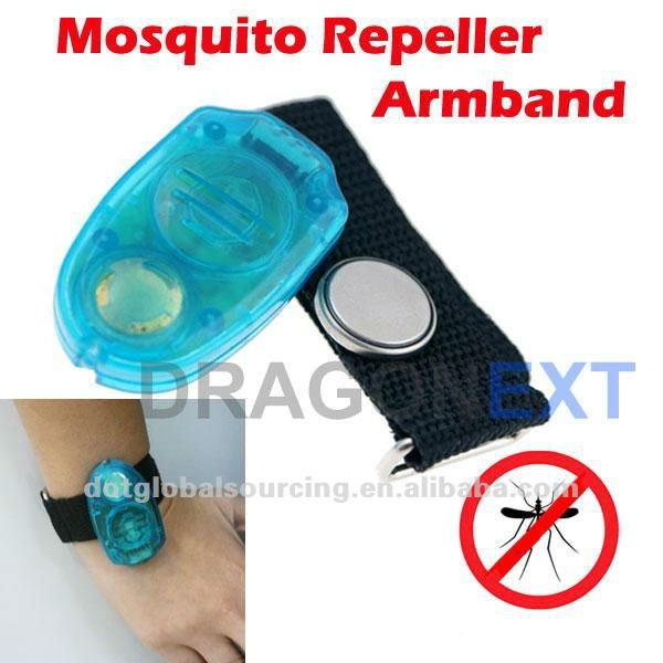 New Portable Electronic Mosquito Repeller Armband Anti Insect Belt Clip With Led