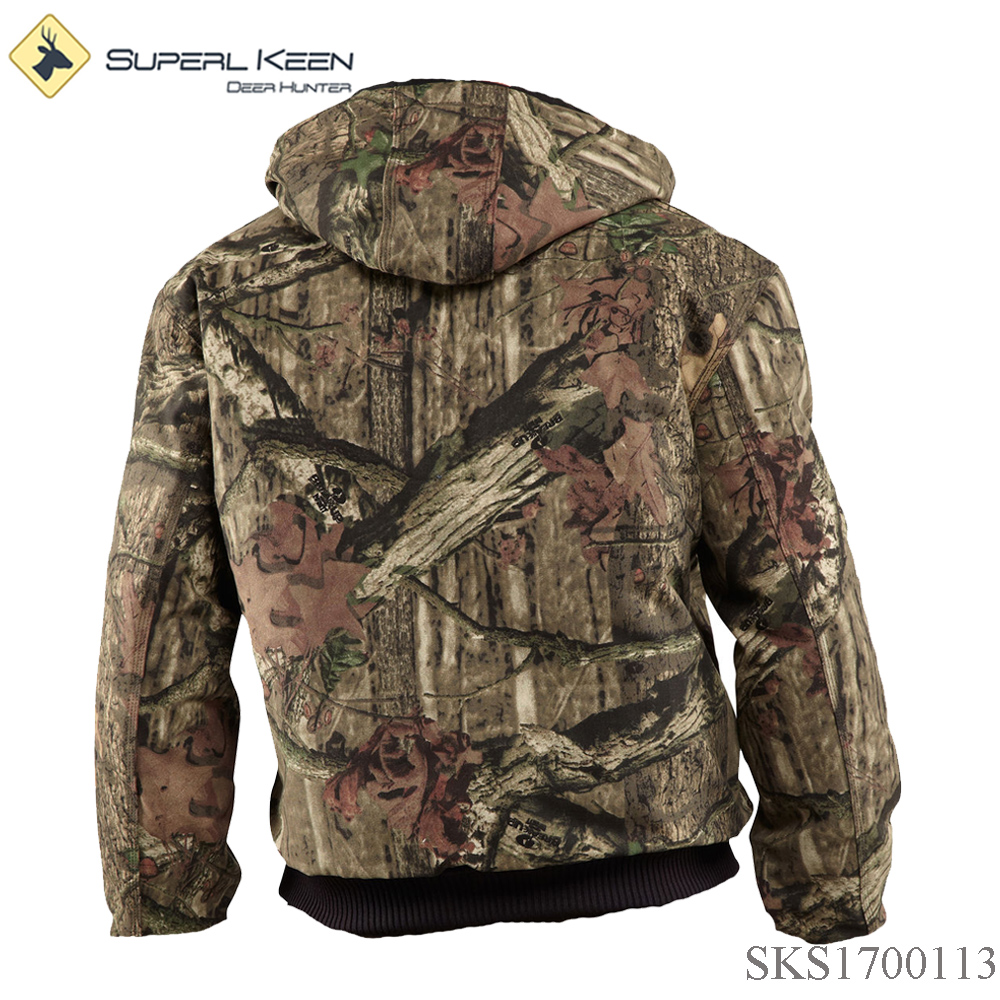 Men's Outdoorwear Quilted Fleece Lining Realtree Tricot Hunting jacket
