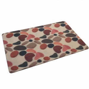 Customized dot anti slip print pvc underlay carpet backing door mat