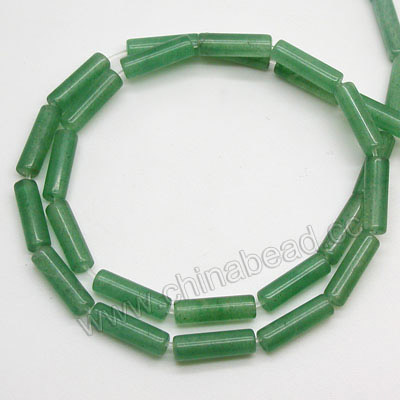 Natural Smooth tube gemstone beads price of green aventurine stone
