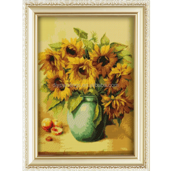Diamond Embroidery Kits 3d Flower Vase Painting Designs On Canvas