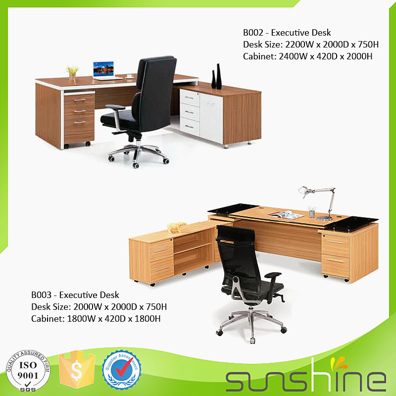 Melamine office desk particle board Executive director table in good price
