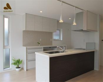 2018 Hangzhou Vermonhouse Kitchen New Design Modern Mobile Kitchen Cabinets  Wood Grain Melamine And Lacquer Mashup - Buy Melamine Board Kitchen ...
