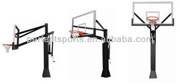 Outdoor Adjustable Clear View Basketball Hoop/System