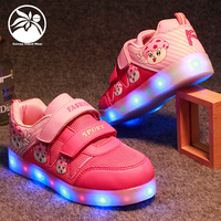 Boy girl Luminous Youth Sneakers Flashing LED Trainers led light up kids shoes