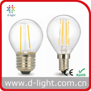 G45 Clear 2W 4W Filament led light bulbs mini round bulbs with ce rohs for christmas party decorations Buy direct from China