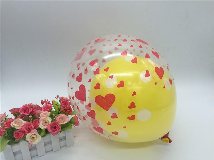 14inch transparant printed balloons for kids toy and wedding decoration