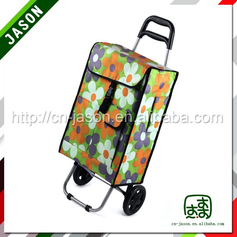 steel luggage cart foldable removable bag handcart