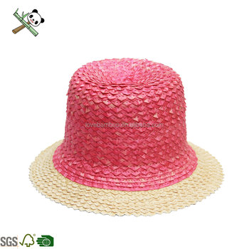37b0a555 Chinese promotional custom size cheap colorful bamboo cowboy hat for girls