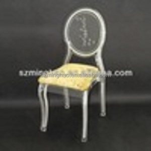 Clear Acrylic Lucite Dining Chair / wedding chairs With Cushion