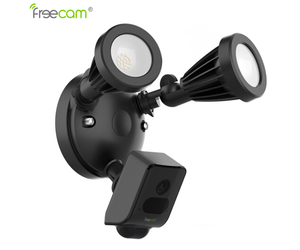 Freecam AI algorithm detection waterproof wall light wifi ip camera with APP controlling
