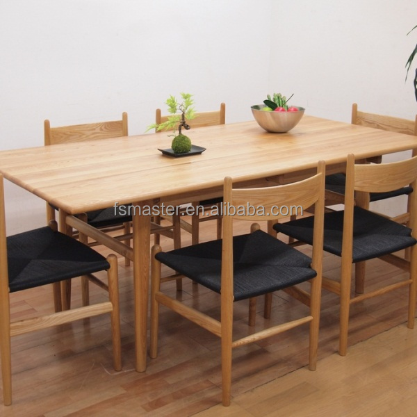 Dining room furniture 160cm ash wood restaurant table