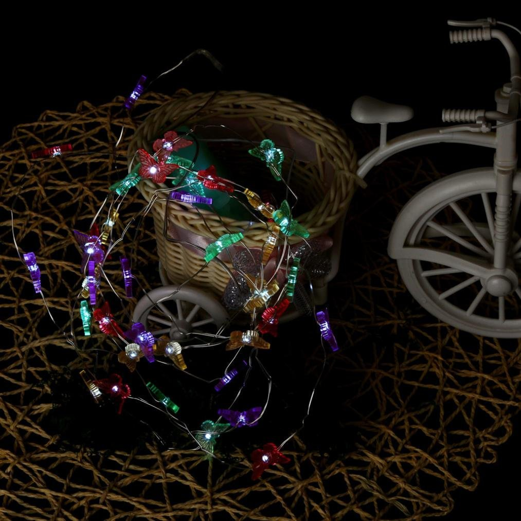 Christmas Lights Tuscom@ 40LED Battery Power Bendable Copper Wire String Lights (Colorful A)
