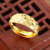 Simple latest gold finger ring designs jewellery men's ring, gold rings without stones, 24K saudi arabia adjustment ring