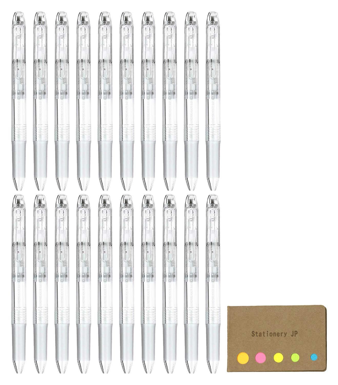 Pilot Hi-tec-c Coleto 3 Color Multi Pen Body Component, Clear, Rubber grip, 20-pack, Sticky Notes Value Set