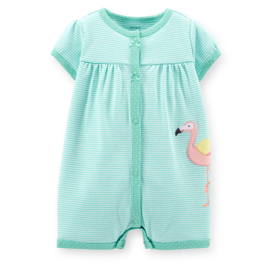 Retail Sell Brand 2015 Carters Baby Clothing 100% Cotton Newborn baby rompers cartoon blue color striped baby girls clothes
