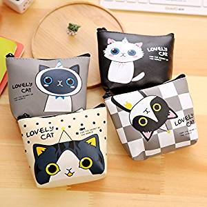 Katoot@ Lovely Cat Mini pencil case Kawaii Pu Leather storage bag stationery pouch kids gift office school supplies canetas