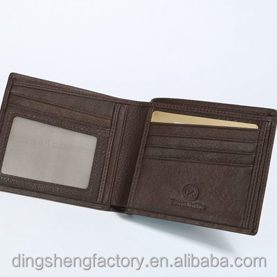 Direct China Rfid blocking leather wallet pulp fiction bmf Customized