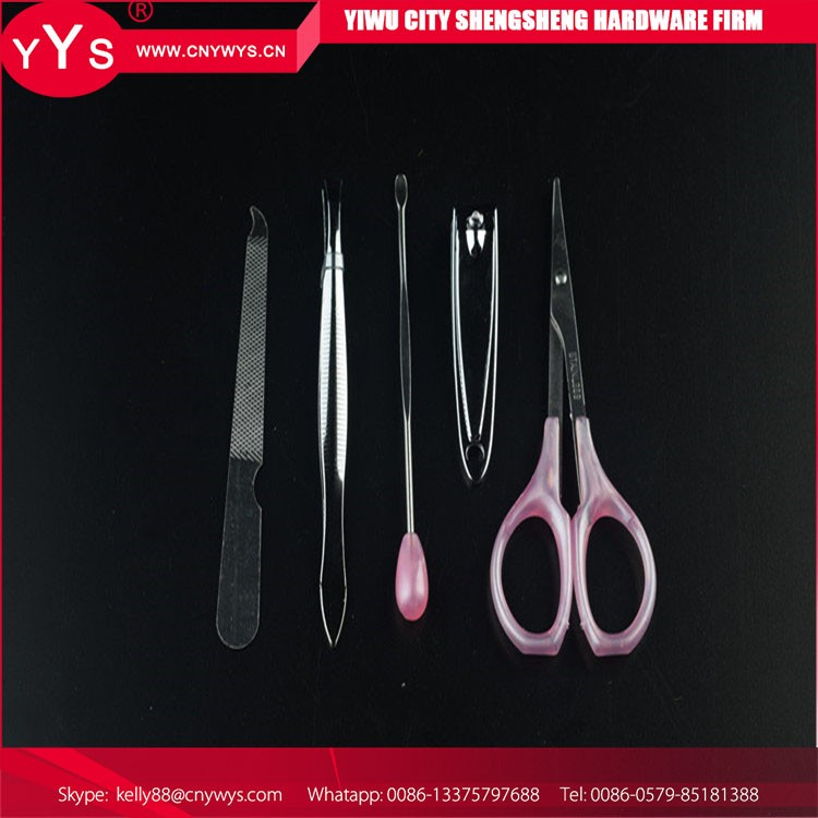 China wholesale high quality gift nail cutter clipper manicure set with exquisite handle