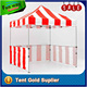 Red White Striped Folding Stall, E-Z Up Instant Exhibition Tent