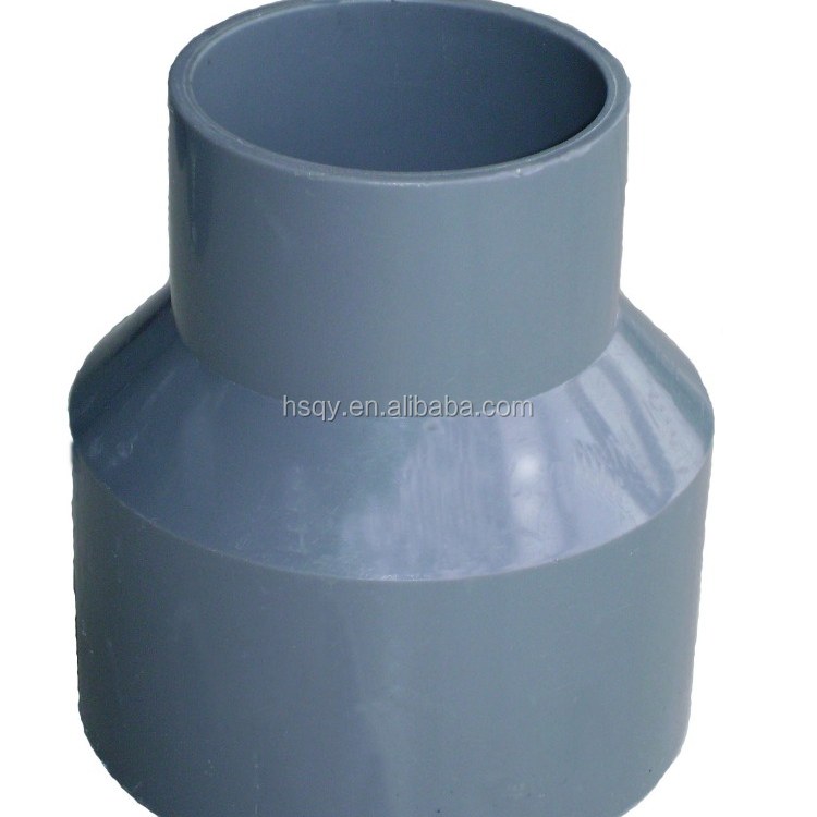 90X50MM pvc drainage reducer with glued/ parts uses of pvc (pvc connectors/ joint)pipe <strong>fitting</strong>