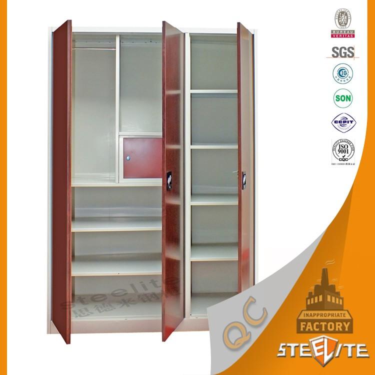 2016 Good Quality Wooden Almirah Designs In Bedroom Made