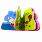 China printing factory custom produce special shape EVA foam printing children board book