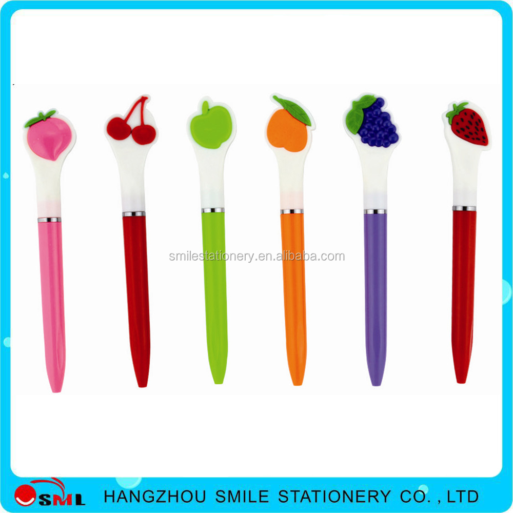 2016 Cheap Fruit Shape Plastic Ball Pens with Logo