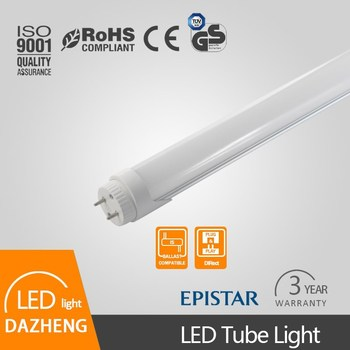High lumen 1.2m 18W CE/RoHS AC110-265V or 277V 1200mm t8 led tube