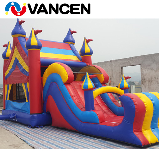 2018 China new kids funny game customize size outdoor party inflatable bouncy castle combo with slide for sale