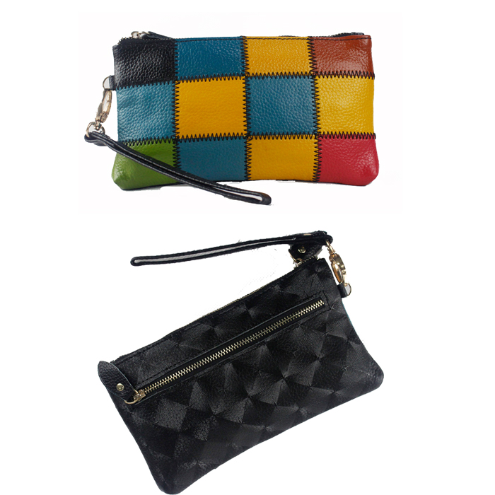 Genuine Leather Women Clutch Hand Bag Wallet