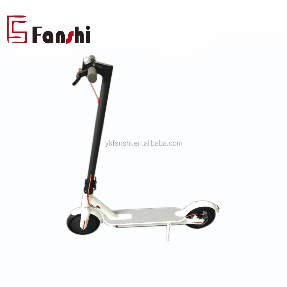 Hot sale Cheap 8.5inch Foldable Smart Kick Electric Scooter Skateboard 2018 for adults, Whitle/black