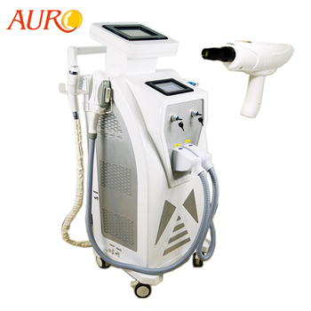 Au-S545 Best Top Selling High Power E-Light IPL RF+ND YAG Elight Laser Tattoo Removal/OPT Hair Removal Elight Laser ND YAG