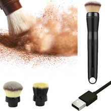 Private label offered professional electric cosmetic makeup brushes set