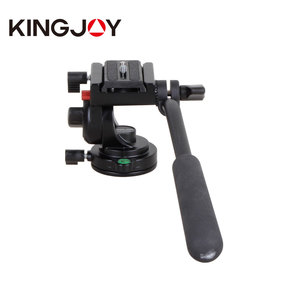 Kingjoy Max Load 5kg 2-Way Camera Video Fluid Pan/Tilt Head with 1/4 Mount Screw Quick Release Plate for dslr caemras KH-6750