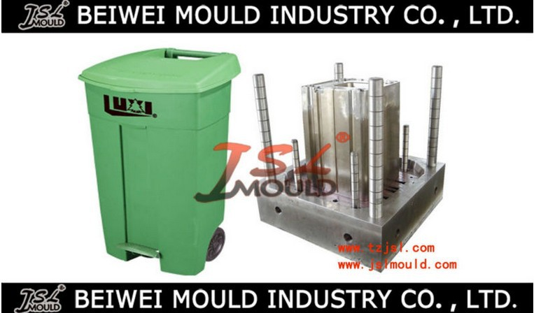 Outdoor injection plastic garbage bin mold garbage can mould