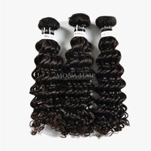 Move fast hair product 16 18 20 inch unprocessed raw deep wave human hair raw indian hair wholesale