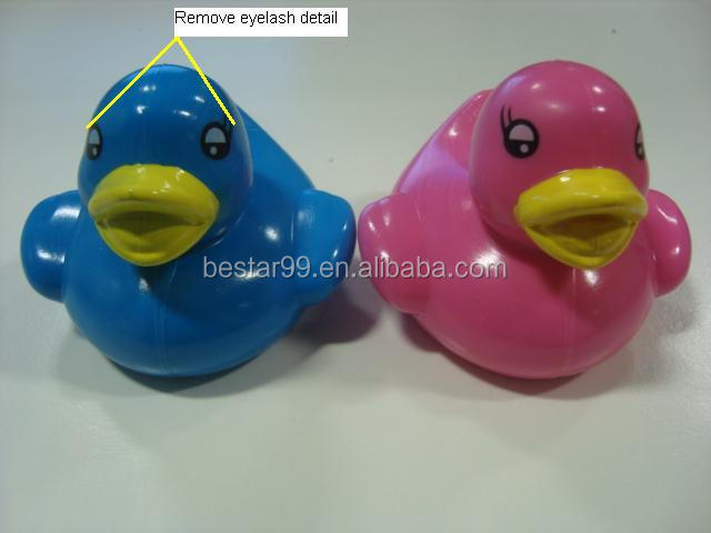 6.5cm colour changing floating rubber bath duck wholesale