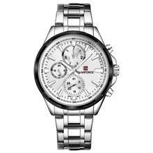NAVIFORCE мужские часы, лучший бренд, роскошные черные полностью стальные водонепроницаемые кварцевые часы, мужские повседневные спортивные на...(China)