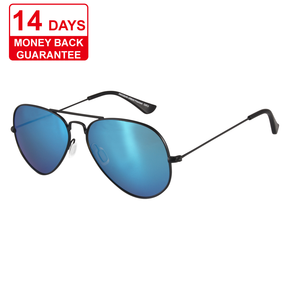 Alibaba.com / PROGEAR Urban U1510 col.2 Custom Wholesale Multi Coating Colorful Blue Mirror Best-Selling Wholesale Promotional Sunglasses