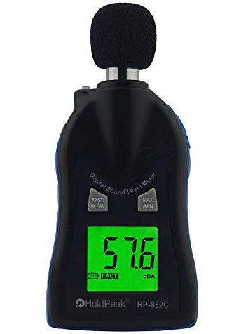 HOLDPEAK 30-130dBA LCD Digital Sound Level Meter Noise Volume Measuring Instrument Decibel Monitoring Tester