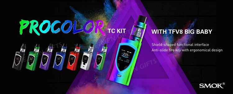 1 3 Inch Oled Screen 2ml 5ml 225w Smok Procolor Kit Buy