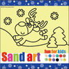 Christmas DIY craft drawing toys sand art pictures