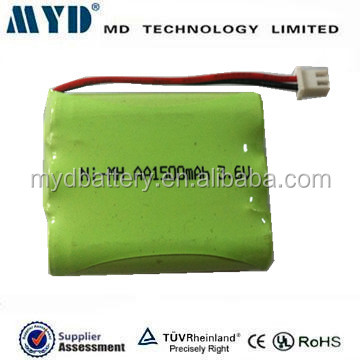 3.6v 1500mah with wires and connector 3.6v cordless phone battery
