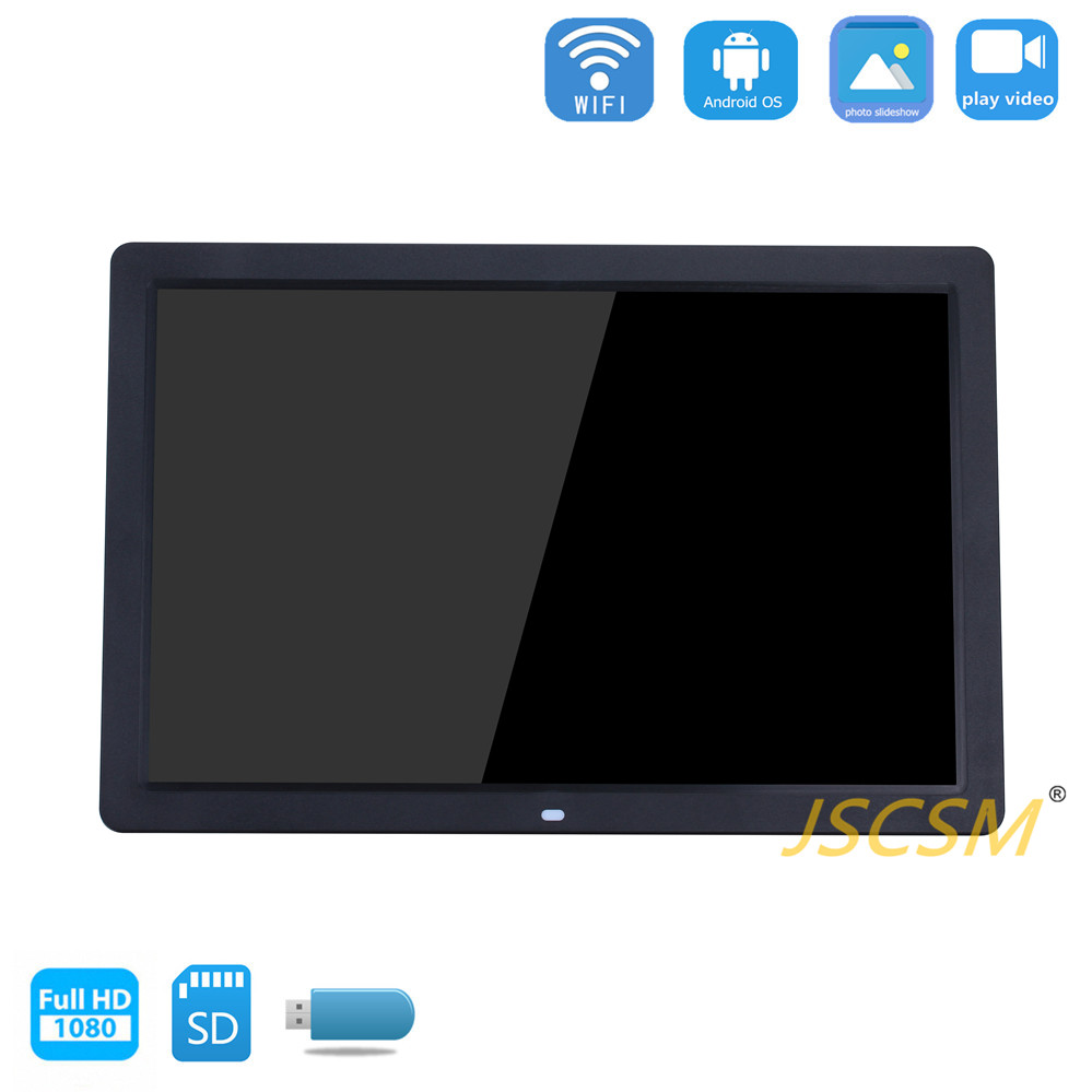 hd commercial ips 3g wall mountable digital photo frame 17 with video loop